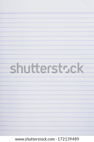 Sheet of lined paper or notebook paper texture - stock photo