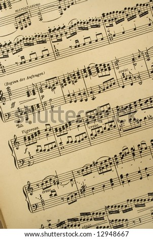 sheet of music notation - stock photo