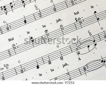 sheet of music (traditional hymn) - stock photo