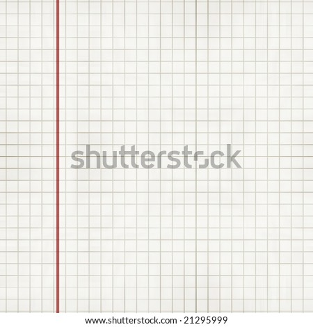 sheet of office paper with squares on it