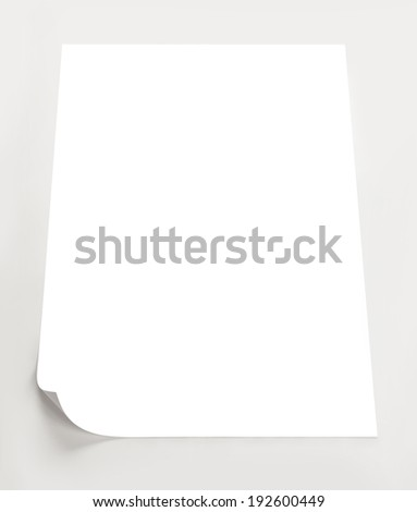 sheet of paper  - stock photo