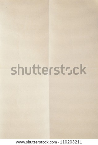 sheet of paper folded in four - stock photo