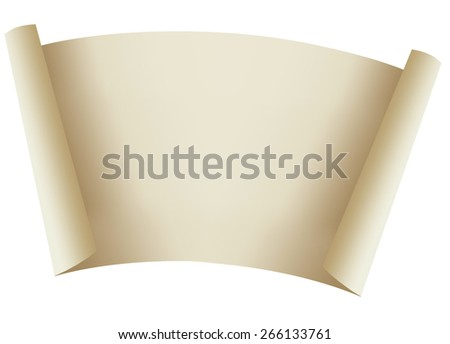 Sheet of paper for an inscription on a white background - stock photo