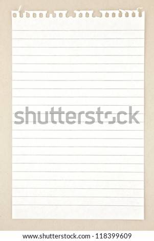 sheet of paper on the seamless texture
