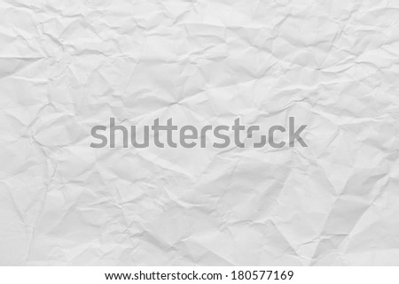 Sheet of Printer Paper Wrinkled Background. - stock photo