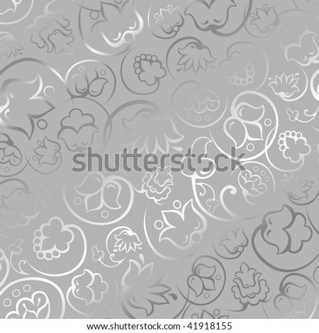 Sheet of silver gift paper - stock photo