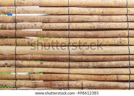 Sheet of the bamboo blinds.