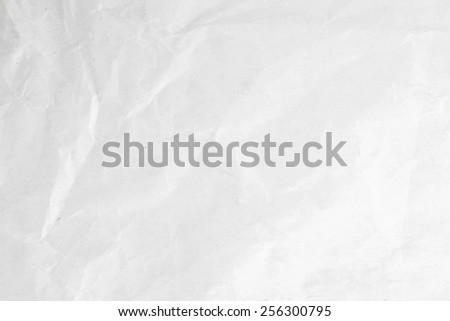 Sheet of the wrinkled paper surface - stock photo