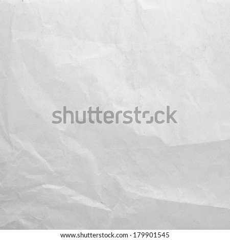 Sheet of the wrinkled white paper - stock photo