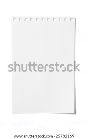 Sheet Scrap in white background - stock photo