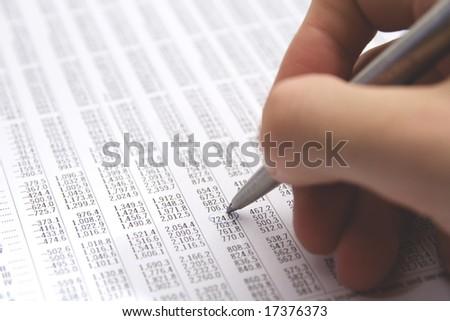 Sheet (table) - stock photo