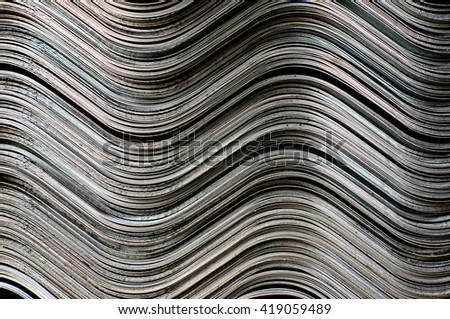 sheet zinc form wave - stock photo
