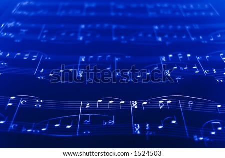 SheetMusic closeup - stock photo