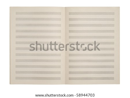 Sheets for musical notes - stock photo
