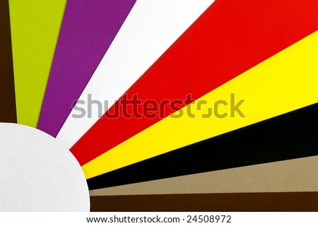 Sheets Colored Cardboard Decomposed Form Suns Stock Photo (Royalty ...