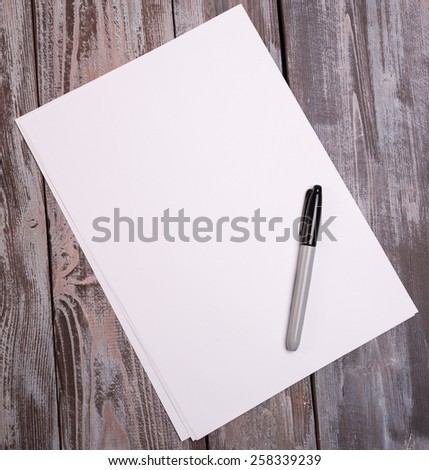 sheets of paper - stock photo