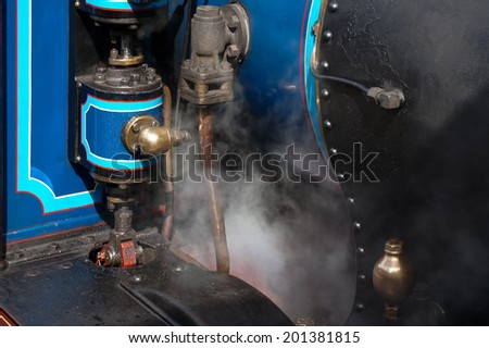 SHEFFIELD PARK, EAST SUSSEX/UK - SEPTEMBER 8 : Partial view Bluebell steam engine at Sheffield Park station East Sussex on September 8, 2013