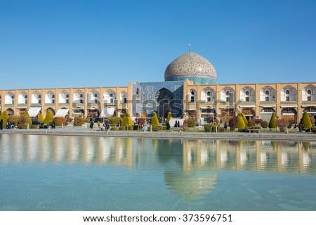 Sheikh Lotfollah Mosque at Naqhsh-e Jahan Square in Isfahan, Iran - stock photo