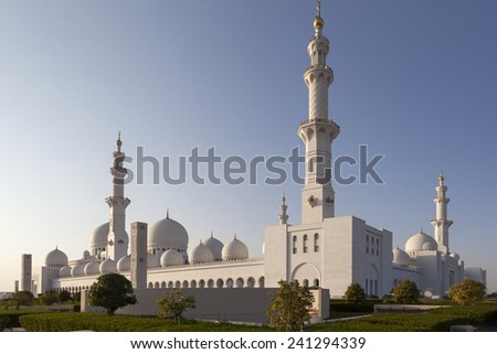 Sheikh Zayed Mosque. Abu Dhabi. UAE. - stock photo