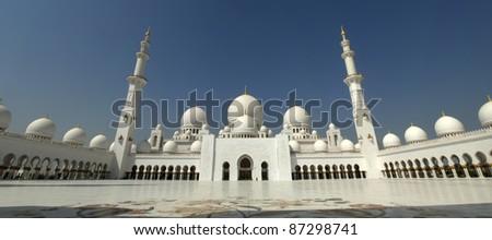 Sheikh Zayed Mosque Abu Dhabi , United Arab Emirates - stock photo