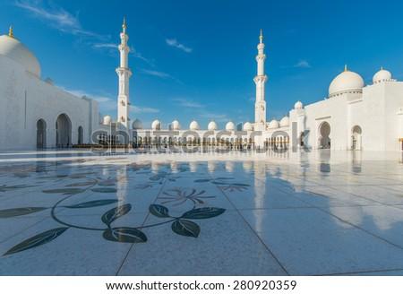 Sheikh Zayed Mosque in Abu Dhabi - stock photo