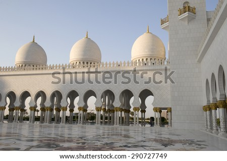 Sheikh Zayed Mosque in Abu Dhabi city, UAE