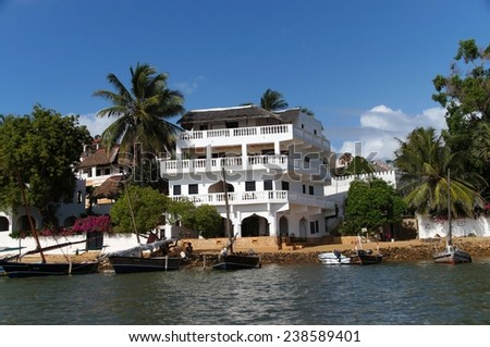 Shela's shore, Lamu island, Kenya - stock photo