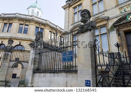 Sheldonian Theater Oxford - stock photo