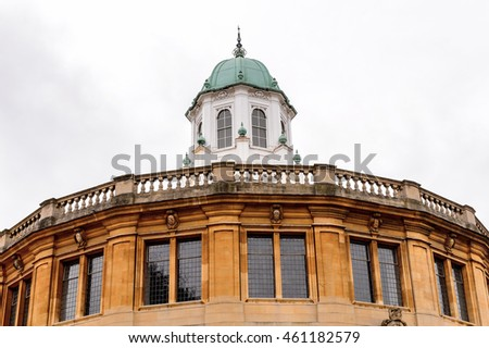Sheldonian Theatre, Oxford, England. Oxford is known as the home of the University of Oxford