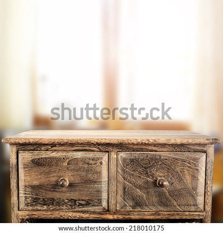 shelf and window  - stock photo