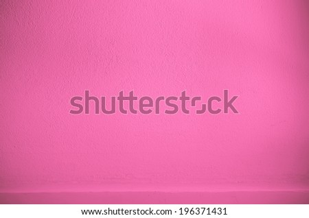 Shelf built-in Pink color cement texture background for design - stock photo
