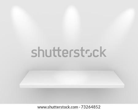 shelf for exhibit - stock photo