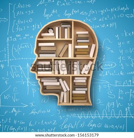 Book Shelf Form Head On Gray Stockillustration 156153332 ...