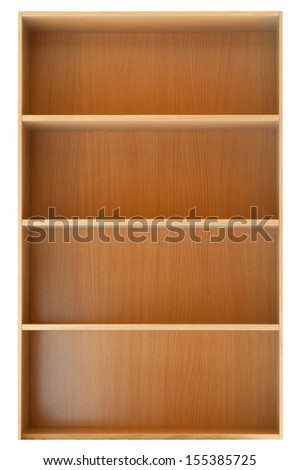 shelf isolated on white background - stock photo