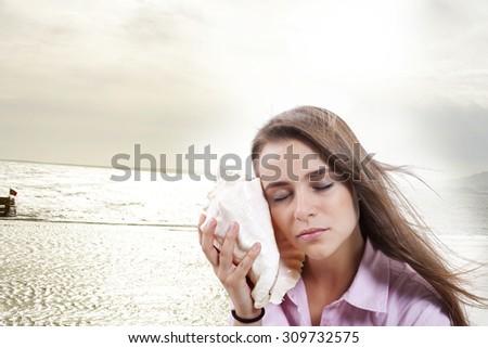 Shell. - stock photo