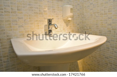 Shell for the washing of hands in the interior - stock photo