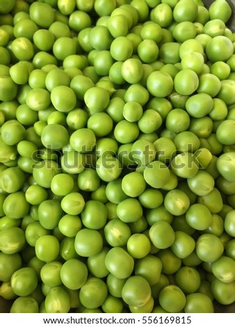 Shelled Green peas (close up)