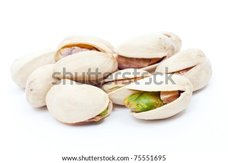 shelled pistachio - stock photo