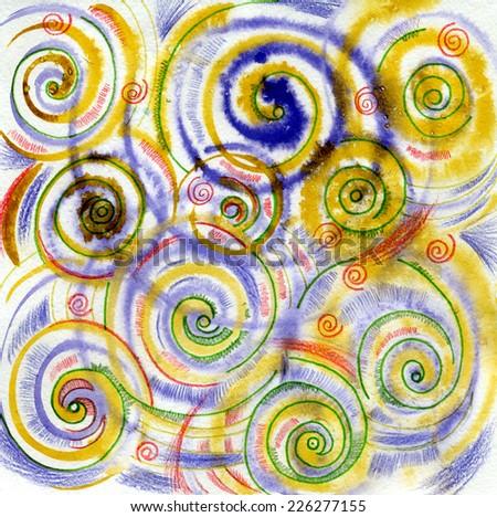 Shells, curl, spiral - stock photo