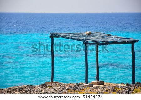 Shelter along the bay of pigs, Cuba - stock photo