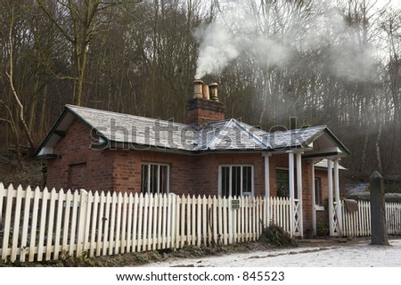 Shelton tollhouse, blist hill Victorian museum, Shropshire, England - stock photo