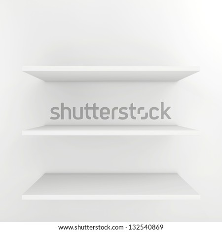 shelves for product - stock photo
