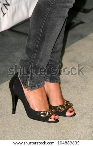 Shenae Grimes's shoes  at '90210' presented by the Twenty-Sixth Annual William S. Paley Television Festival. Arclight Cinerama Dome, Hollywood, CA. 04-11-09