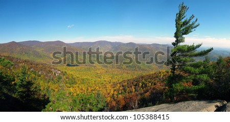 Shenandoah National Park and Old Rag Mountain - stock photo