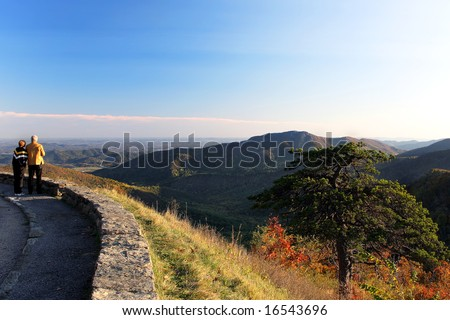 Shenandoah National park at the fall: a mountain view - stock photo