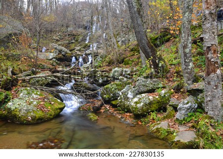 Shenandoah National Park, Dark Hollow Falls -Virginia, USA  - stock photo