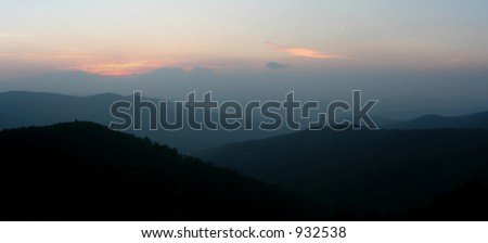 Shenandoah National park panorama, Virginia - stock photo