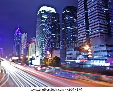 Shenzhen, China at night - stock photo