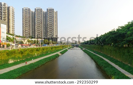 SHENZHEN, CHINA - OCTOBER 03, 2013: Longgang district in ShenZhen. ShenZhen is regarded as one of the most successful Special Economic Zones.