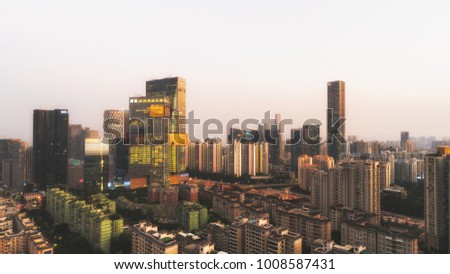 Shenzhen, China - October 28, 2017 : Tencent building in Shenzhen, Tencent is one of the largest Internet Co in China.